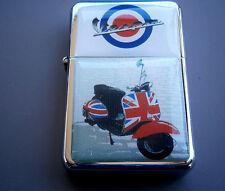 Britische Union Jack VESPA Motor Bike Scooter Star Marke Feuerzeug & Zippo Feuersteine