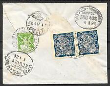 Czechoslovakia covers 1924 R-cover BOCHOV to Leipzig  TRAINcancels