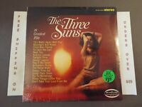 """SEALED THE THREE SUNS 16 GREATEST HITS 1966 STEREO LP """"MOONLIGHT AND ROSES"""""""