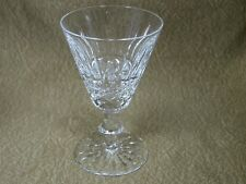 "2 Waterford Ireland Tramore Lead Crystal White Wine Glasses 5 1/8"" Tall"