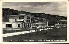 Varna am Goldstrand Варна Bulgarien s/w Postkarte 1959 Partie am Hotel Le Grève