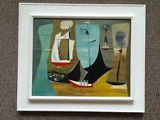 Leah Rinne Hamilton 1946 Original Signed Oil Painting Surrealist Modernism Art