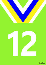 NRL Canberra Raiders League Wheelie Garbage Bin Rubbish Sticker House Number