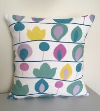"""Handmade Cushion Cover: Vintage 1964 """"Floral Mile"""" Fabric by W. Bauer for Heals"""