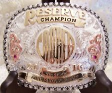 Skyline Vaquero Sterling Silver AQHA Reserve Champion Showmanship Trophy Buckle