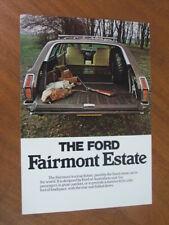 1977 Ford Fairmont Estate (XC Wagon) original UK single page brochure