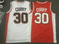 NEW Stephen Curry #30 Warriors Davidson College Throwback Basketball Jersey Sti