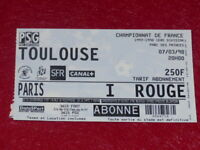 [COLLECTION SPORT FOOTBALL] TICKET PSG / TOULOUSE 7 MARS 1998 Champ.France