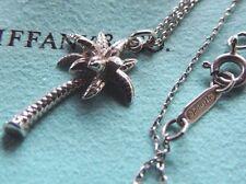 "Tiffany & Co. 100% genuine 925 silver Palm Tree pendant necklace 17.25"""