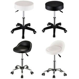Salon Massage Chair Faux Leather Swivel Stool on Wheels Gas Lift Stool Tattoo
