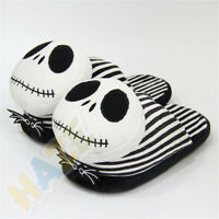The Nightmare Before Christmas Jack Skellington Plush Warm Home Slippers