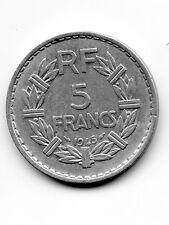 5 francs LAVRILLIER 1945 Aluminium