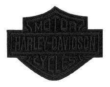 Harley-Davidson Black Bar & Shield Emblem Patch, SM 4 x 3.125 inch EM302302