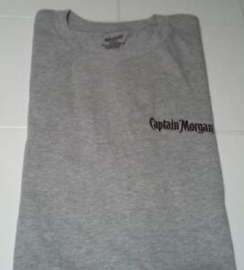 BRAND NEW - Captain Morgan Rum T-Shirt Gray Size Large - FREE SHIPPING