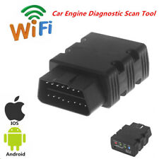 Black 12V WiFi KW902 ELM327 OBD2 Car Engine Diagnostic Scan Tool For iOS Android