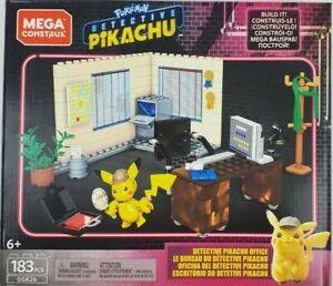 Mega Construx Pokemon Detective Pikachu Office Building Set NEW IN STOCK