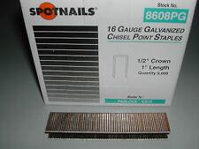 """Spotnails 8608pg 1/2"""" Crown Staples 16 Gauge 1"""" for Paslode Dewalt (10,000)"""
