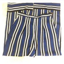 Striped Wide Leg Pants Medium M Blue ,white And Black