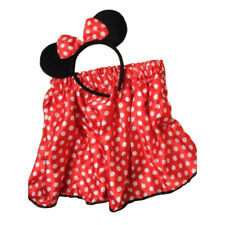 Girls Child Mini Mouse Set Red Polka Dot Satin Tutu Black Mouse Ears Fancy Dress