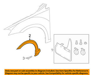 VW VOLKSWAGEN OEM 17-18 Golf SportWagen-Fender Flare Right 5G9853718A9B9