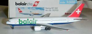 Herpa 1:500  Balair cta Airlines   767-300  -  502955