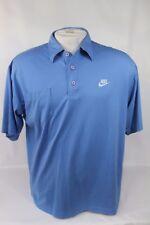 Nike Gray Tag Polo Vtg 80s 90s Short Sleeve Blue Polo Shirt Size Large, Used!