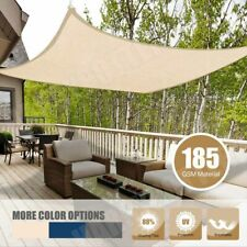 Sun Shade Net Sail Cloth Awning Shadecloth Outdoor Canopy Rectangle Triangle