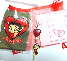 Betty Boop Red Heart Bag Charm Romantic Valentine or Anniversary gift bag & Jour
