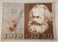 ORIGINAL SOVIET ART POSTER KARL MARX COMMUNIST PROPAGANDA POSTER 1968y