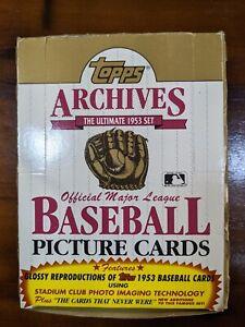 1991 TOPPS ARCHIVES BASEBALL BOX OF 36 PACKS - REPRINT OF TOPPS 1953