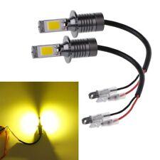 2pcs H3 80W Strobe Flash LED Bulb Car Fog Driving Light Lamp Yellow Amber 3000K