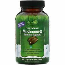 Pure Defense Mushroom-8, Immune Support, 60 Liquid Soft-Gels Exp 06/2021