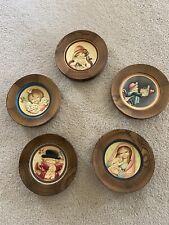 Anri Italy Ferrandiz Mother's Day 5 Plates. 1978 to 1982
