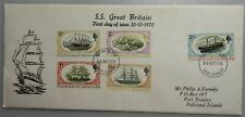Stamps . 1970 . Falkland Islands . SS Great Britain . 5 stamp . First day Cover.