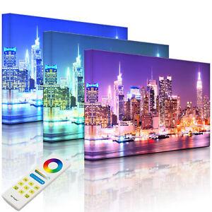 Beleuchtetes Bild LED Leuchtbild - New York City Skyline