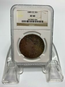 1889 CC Carson City Morgan Silver Dollar NGC XF40