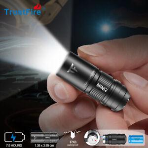 TrustFire MINI2 220Lumens EDC Tiny Rechargeable LED Keychain Light Flashlight US