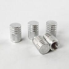 silver Aluminium Valve Caps Set of 5 - Dust Caps Universal Fitting - 39250