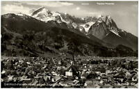 Garmisch Partenkirchen alte AK 1966 gelaufen Totale mit Blick auf Zugspitzgruppe
