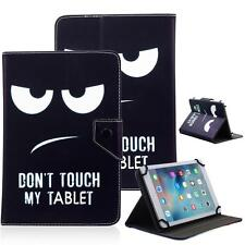 """Don't Touch My Tablet 10"""" Universal Leather Box Case For Samsung/Toshiba/Verzion"""