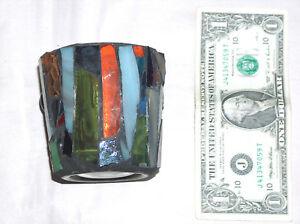"""Beautiful Stained Glass 3 1/8"""" Bar Hard Cocktail Cup Mug Drinking Glass"""