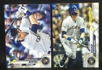 Lot (2) 2020 Topps Christian Yelich #200 - League Leaders #143 Milwaukee Brewers