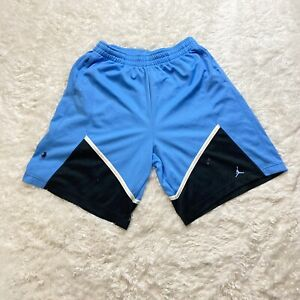 Vtg Air Jordan Basketball Shorts Size Extra Large Mens Athletic Activewear Blue