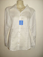 Ladies CREAM long Sleeve fitted Blouse Work/office/social/leisure Choose Size