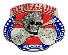 Skull Belt Buckle Rock Music Themed Guitar Renegade Authentic Dragon Designs