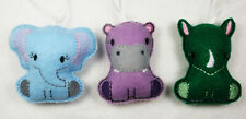 Zoo Animals Baby Mobile Charms Elephant, Hippopotamus Lion, Panda and Rinoceros