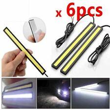 6PC LED Strip DRL Daytime Running Lights FOG COB Car Lamp White Day Driving 17CM