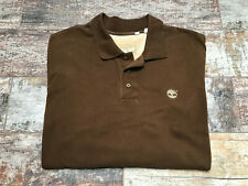 Timberland Men's Brown 1/3 Button Rugby Jumper Size XL/TG