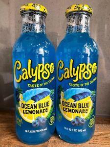 CALYPSO Ocean Blue Bottles LEMONADE AMERICAN DRINKS (473ML)