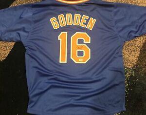 Dwight Gooden Signed Autographed Blue Baseball Jersey New York Mets Beckett K
